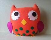 Felt Owl Plush, Decoration, Christmas - Baby Gift, READY TO SHIP