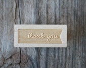 Thank you stamp - .5 x 1.5""