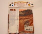 DIY Sew-It-Yourself Flintstones in Toytown Dolls NOS, New In Packaging Flintstones Doll, Fred and Wilma Flintstone