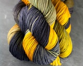 Hand dyed SW Merino fingering yarn- All Spice
