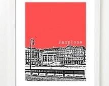 Pamplona, Spain Poster - Pamplona City Skyline Series Art Print - Spain Travel Art