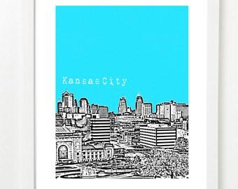 Kansas City Skyline Art Print - Kansas City Missouri Poster - Missouri State Art