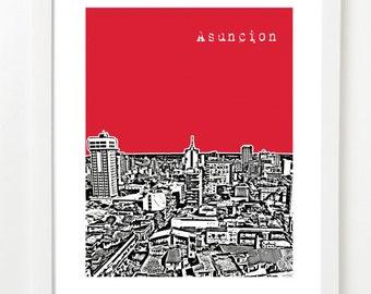 Asuncion Paraguay Art Print - Asuncion Paraguay City Skyline Series Art Print - South America Travel Gifts