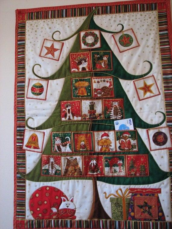 Advent Calendar, Christmas Countdown Calendar, Quilted Advent Calendar