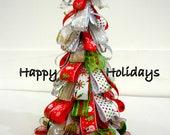 Happy Holidays Ribbon Tree Card