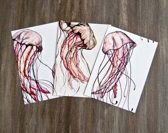 Jellys/3 Postcards - Digital Print