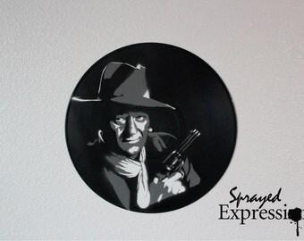 John Wayne Vinyl Record Painting