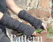 knitting pattern - extra long mittens - Listing09