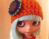 Pumpkin Spice - Fall Beanie for Blythe