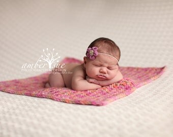 Lavender Ballerina Bloom Baby Flower Headband, Newborn Headband, Baby Girl Flower Headband. Photography Prop