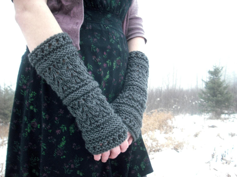 Fingerless Gloves Knit Fingerless Gloves Gothic Arm Warmers