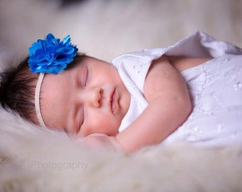 blue headband..baby girl blue headband..girls blue headband..infant blue headband..baby girls headband..girls headband