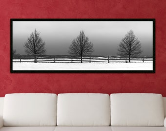 Framed Canvas Print of Winter Trees