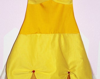Belle Princess inspired dress up Apron Beauty and the beast dress up baking play party