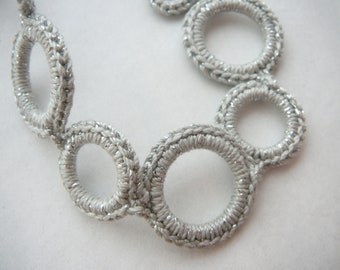 Sparkly Silver pacifier clip. This color has sparkles entwined.  (fits mam, soothie, nuk) Made by lippybrand