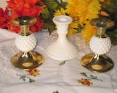 Milk Glass Group Candle Holders Pretty :)