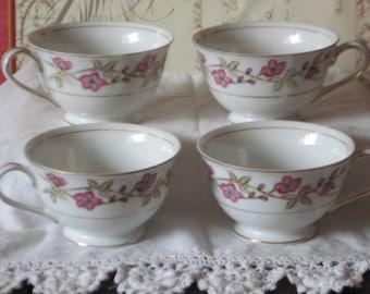 Tea Cups Valmont China Briar Rose , Vintage Tea Cups, Vintage China Tea Cups, Cottage Chic Tea cups, Vintage Dishes, Vintage Home Decor :) S