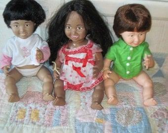 Lake Shore Dolls Teach Children About Differences  1980s, 3 dolls,Dolls with Differences, Teaching dolls, Dolls,Vintage Dolls, :)s