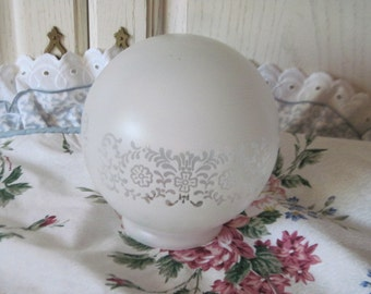 Light Shade  Frosted with Flowers  Round