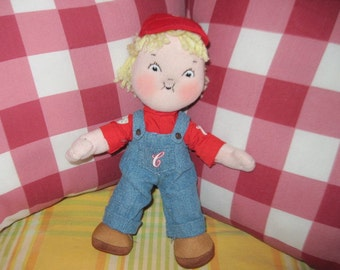 Campbells  Soup Stuffed Boy Doll  100 years  :)S