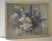 Still Life Painting - Dutch Style Still Life - Flowers in a vase - Print - Painting
