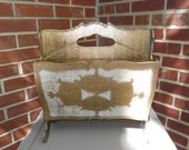 Vintage Italian Gold Gilt Magazine Rack