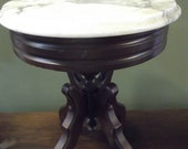 Vintage Marble Top Ladies Side Table