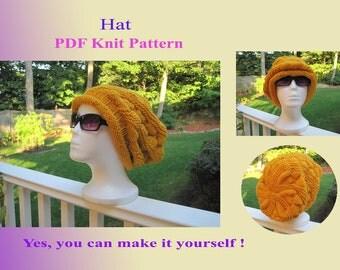 Knit Pattern - Hat (22VC2012)