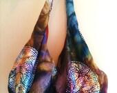 Large Tie Die Hippie Hobo Bag