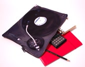 """CLEARANCE Zipper Pouch """"PP Turntable"""" for Macbook Pro 13 and Macbook Air"""""""