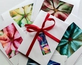 Pretty Petals - Set of 3 Encaustic Greetings Cards