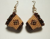 Beaded Huckleberry Basket Earrings