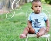 Baby onsie, Baby blue onsie, Christian baby clothes, Philippians 4:13