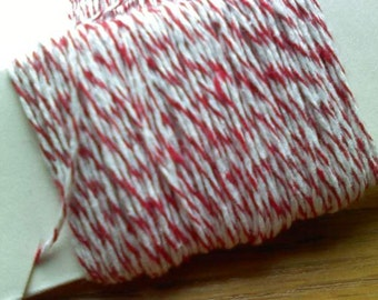 150 feet Bright Red 4-ply Bakers Twine