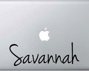 Ipad Mac Book Laptop Custom Vinyl Name Decal Sticker Girl Case Cover (Choose Size and Color) 1170