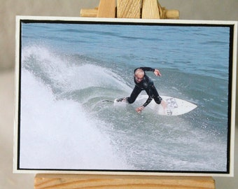 ACEO, photograph, surfer, California, surf