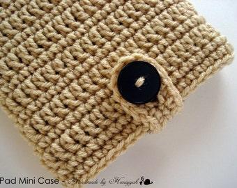 iPad mini - Nook - Kindle - case cover - handmade crochet - soft beige