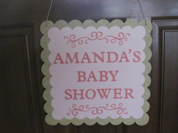 Items similar to door sign baby shower decor baby shower for Baby shower front door decoration ideas