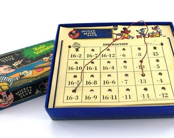 1950s Mickey Mouse Club - Magic Subtractor Arithmetic Game