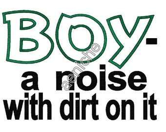 Boy Definition Machine Applique and Embroidery Design