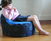 modern kids bean bag chair cover - sunshine