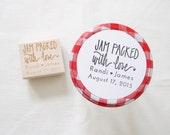Custom Wedding Favor Stamp - Jam Favors - Jelly Favors - Hand Lettered Personalized Wedding Stamp - H5000