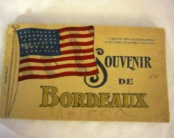 Vintage French Post Card Booklet