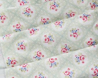 Cotton Fabric Falling In Love Green per Yard 24994