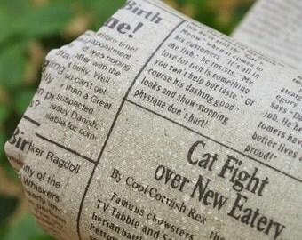 Waterproof Laminated Linen Fabric Newspaper per Yard 11067 - 481