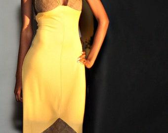 Mustard Yellow Halter Maxi Dress