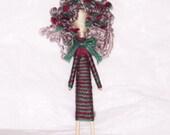 Granny Gretal-Custom Cupie Folk Art Pin Brooch
