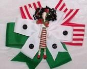 Holiday Tabitha-Custom Cupie Folk Art Hair Barrette