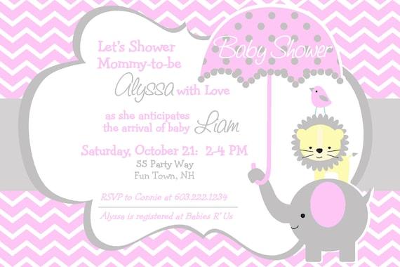 elephant baby shower invitation boy invitation elephant baby, Baby shower invitations
