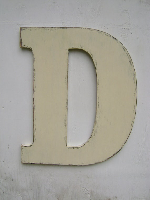 Large wall letters rustic wood letter shabby by unclejohnscabin - Wood letter wall decor ...